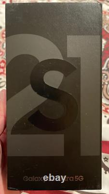 Samsung Galaxy S21 Ultra 5G SM-G998U 128GB Phantom Black FACTORY Unlocked SEALED