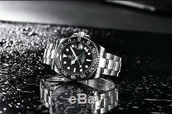 Sapphire Glass Ceramic Bezel 10bar Automatic 40mm GMT Stainless Steel Bracelet