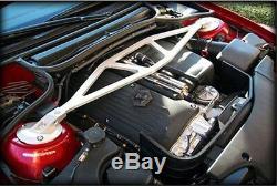 Silver Aluminum Front Upper Strut Tower Bar Brace For BMW E46 3 Series M3 98-07