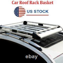 Silver Car Top Roof Rack Cross Bar Luggage Cargo Box Aluminum Alloy Universal