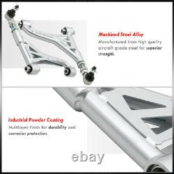Silver Pillowball Rear Upper Adjustable Camber Kit For 1998-2005 GS300 / IS300
