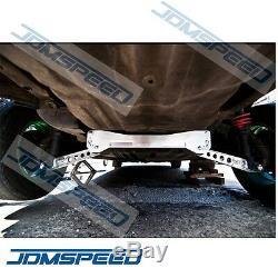 Silver Rear Lower Control Arm Subframe Brace Tie Bar For 96-00 Honda Civic EK