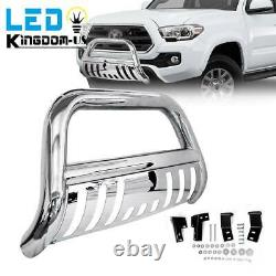Stainless Steel Bull Bar for 05-15 Toyota Tacoma 3'' Push Bumper Grille Guard