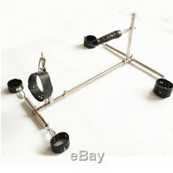 Stainless Steel Hand Ankle Collar Cuffs Restraint frame Spreader Bar Body