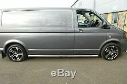 Stainless Steel Side Bars With Rounded Ends for Volkwagen T5 LWB Transporter