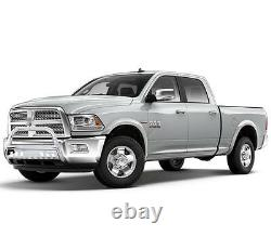 Steel Bull Bar Brush Bumper Grille Guard With Skid For 09-18 Dodge Ram 1500