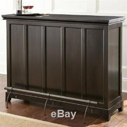 Steve Silver Garcia Counter Height Home Bar with Foot Rail in Ebony