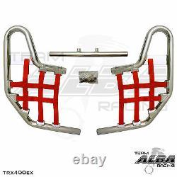 TRX 400EX TRX400X Honda Nerf Bars Alba Racing Silver Red 211 T1 SR