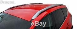 To Fit 12 16 Ford Kuga Polished Aluminium Roof Rail Rack Bars 4x4 Accessories