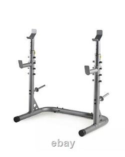 Weider XRS 20 Olympic Squat Weight Rack/Bench Press Stand Spotters and Bar Holds