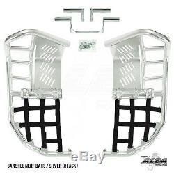 Yamaha Banshee YFZ 350 Nerf Bars Pro Peg Alba Racing Silver Black 207 T7 SB