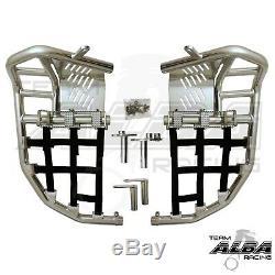 Yamaha Raptor 660 Nerf Bars Pro Peg Heel Gaurds Alba Racing Silver Black 203