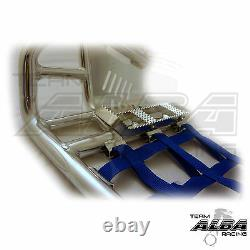 Yamaha Raptor 660 Nerf Bars Pro Peg Heel Gaurds Alba Racing Silver Blue 203