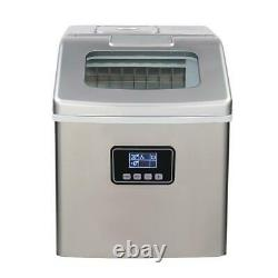 Zokop 40lbs Compact Stainless Steel Portable Countertop Ice Maker Mini Home Bar